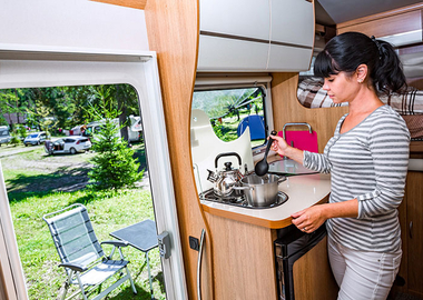 What you need to kit out your touring caravan kitchen